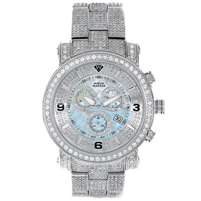 Mens Diamond Aqua Master Watch Fully Paved 11.6ct Mens Diamond Aqua Master Watch Fully Paved 11.6ct