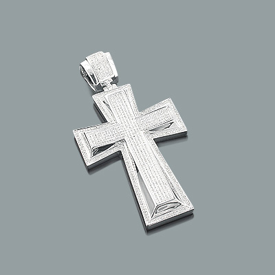 Mens Diamond Cross Pendant 1.59ct