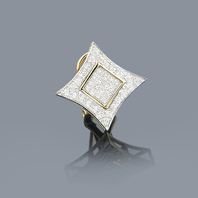 Mens Diamond Earring 0.5ct 14K Gold Main Image