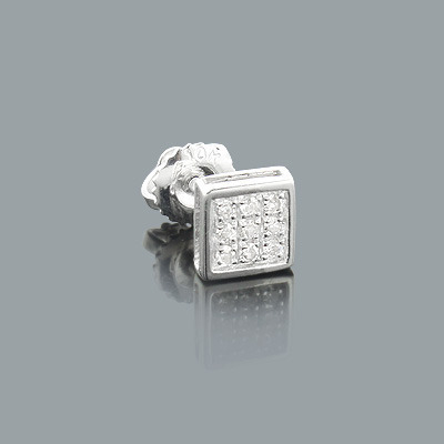Mens Diamond Stud Earring 0.07ct 14K Gold Main Image