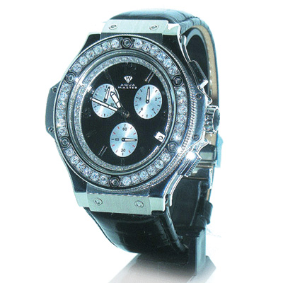 Mens Diamond Watches Aqua Master Watch 4.35ct