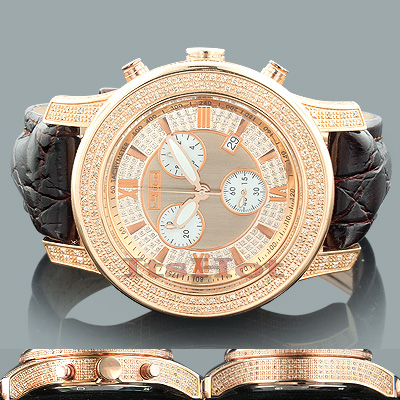 Mens Diamond Watches: Joe Rodeo Watch JoJo 2000 Rose Gold Main Image