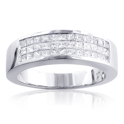 wg jewelry band bands in diamond nl wedding platinum with cut princess diamonds white bar fascinating