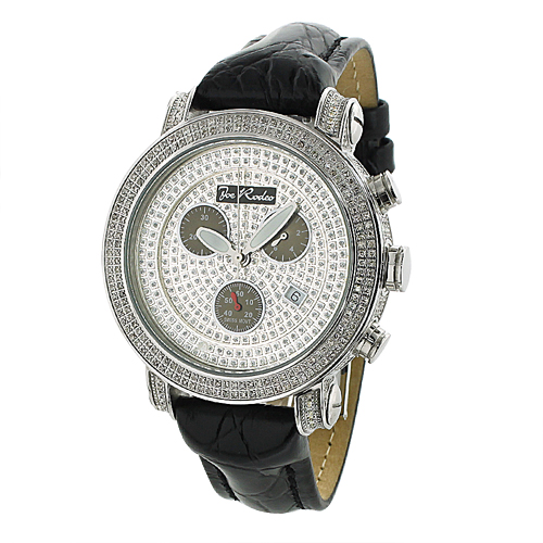 Mens Joe Rodeo Classic Diamond Bezel Watch 3.5ct Main Image