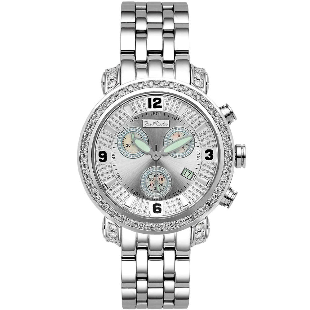 Mens JoJo Joe Rodeo Classic Diamond Watch 2.50ct Main Image