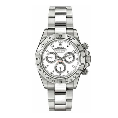 Mens ROLEX Daytona Oyster Watch Perpetual White Main Image