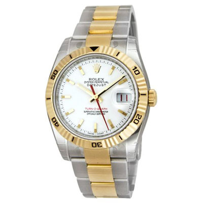 Mens ROLEX Oyster Perpetual Watch Two-Tone Datejust Main Image