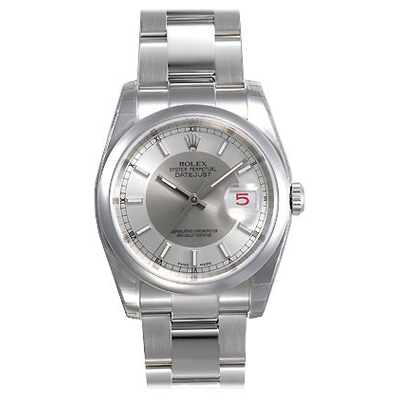 Mens ROLEX Oyster Watch Perpetual Datejust Silver/Grey Main Image