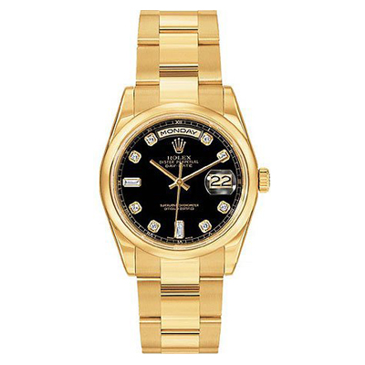 Mens ROLEX Oyster Watch Perpetual Day-Date Diamond Main Image