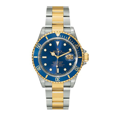 Mens ROLEX Oyster Watch Perpetual Submariner Blue New Main Image