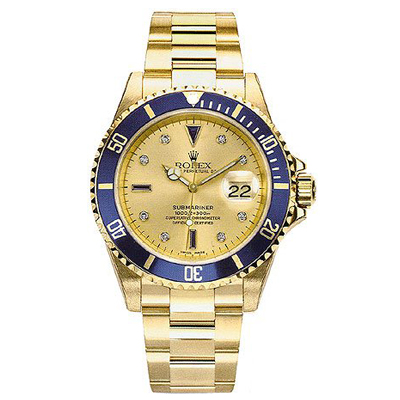 Mens ROLEX Oyster Watch Perpetual Submariner Grey