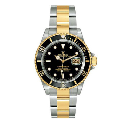 Mens ROLEX Oyster Watch Perpetual Submariner Two-Tone Main Image