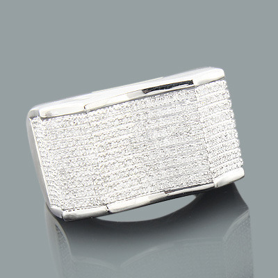 Mens Silver Rings: Affordable Mens Diamond Ring 0.82ct Main Image