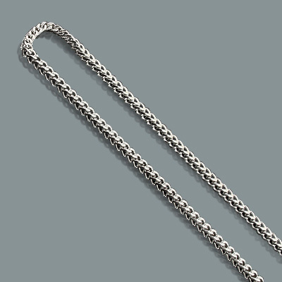 "Mens Stainless Steel Chains: Franco Chain Necklace 4mm 30"" mens-stainless-steel-chains-franco-chain-necklace-4mm-30_1"