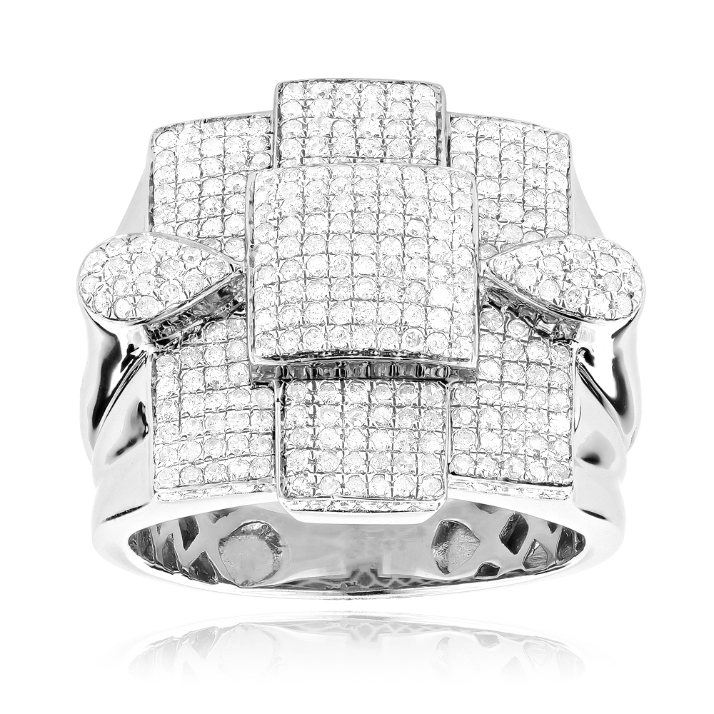 Mens Sterling Silver Diamond Ring 1.70ct Main Image