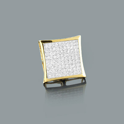Mens Stud Earring with Round Diamonds 0.47ct 14K Gold mens-stud-earring-with-round-diamonds-047ct-14k-gold_1