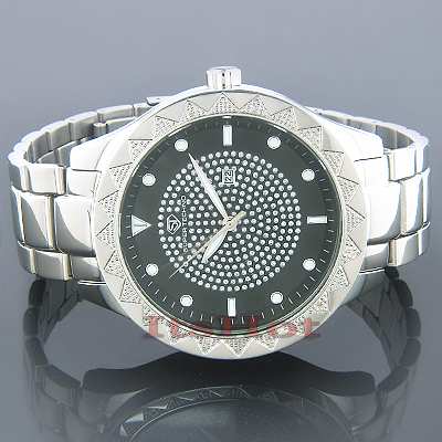 Mens Watches Super Techno Mens Diamond Watch 0.12 ct Main Image