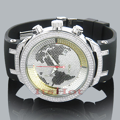 Mens World Map Joe Rodeo Diamond Watch 2.2 Master Main Image