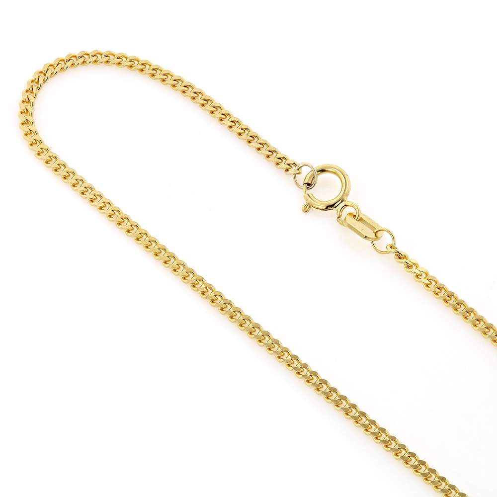 Mens Miami Yellow Gold Cuban Link Curb Chain 14K 1.5mm 22-40in Main Image