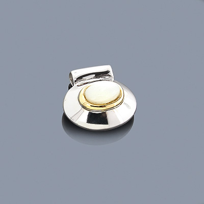 Mother Of Pearl 18K Gold and Sterling Silver Pendant