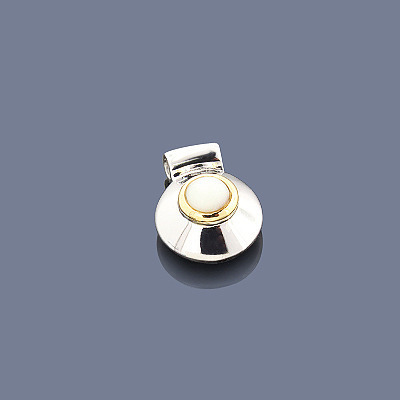 Mother Of Pearl Pendant Sterling Silver 18K Main Image