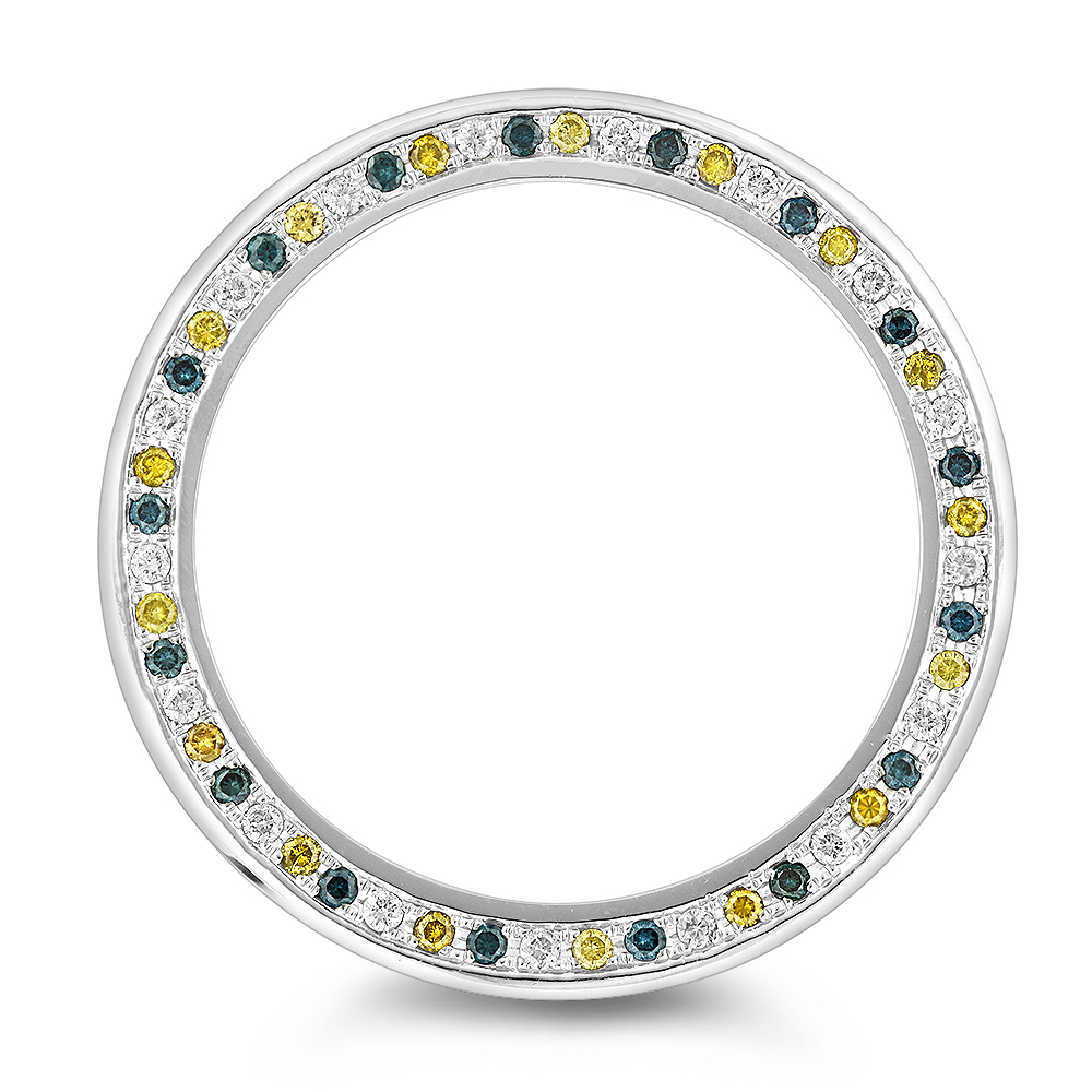 Multicolor Diamond Replacement Bezel for Mens Luxurman Raptor Watches 3.5ct Main Image
