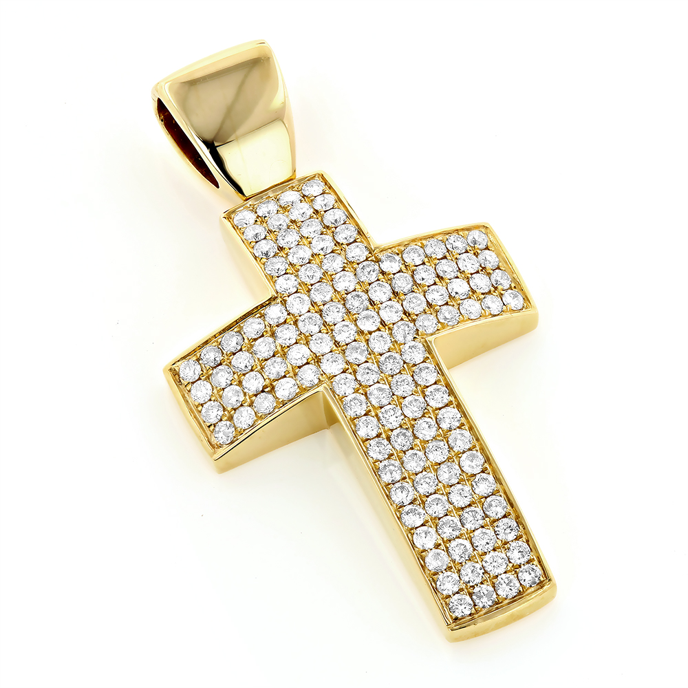 Pave Diamond Cross Pendant 14K Gold pave-diamond-cross-pendant-14k-gold_1