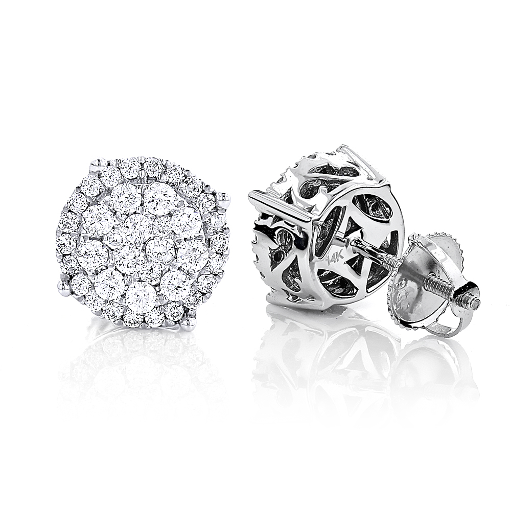 Pave Diamond Stud Earrings 0.9ct 14K Gold pave-diamond-stud-earrings-09ct-14k-gold_1