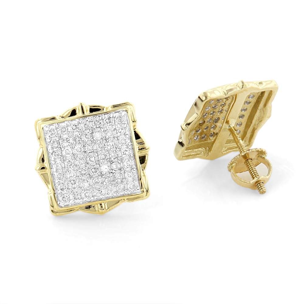 Pave Diamond Stud Earrings 1/2ct 14K Yellow or White Gold pave-diamond-stud-earrings-12ct-14k-yellow-or-white-gold_1