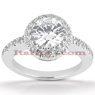 Platinum Diamond Engagement Ring 1.26ct Main Image