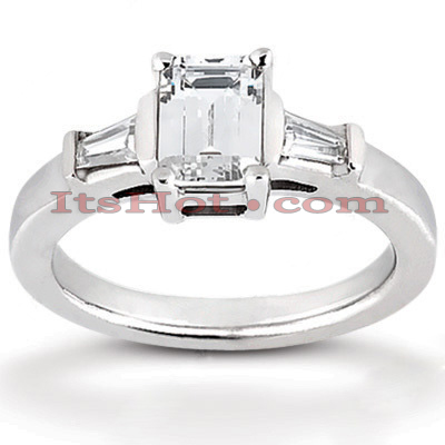 Platinum Diamond Engagement Ring 1.26ct 3.1mm Platinum Diamond Engagement Ring 1.26ct 3.1mm