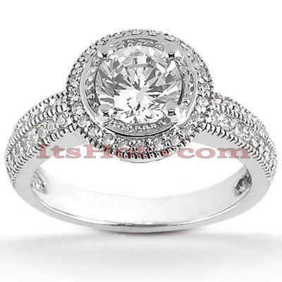 Platinum Diamond Engagement Ring 1.29ct Main Image