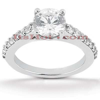 Platinum Diamond Engagement Ring 1.30ct Main Image