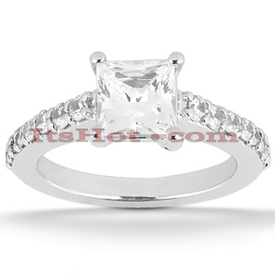 Platinum Diamond Engagement Ring 1.30ct Platinum Diamond Engagement Ring 1.30ct