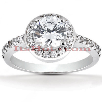 Platinum Diamond Engagement Ring 1.34ct Main Image
