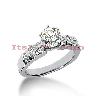 Platinum Diamond Engagement Ring 1.36ct Main Image