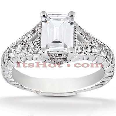 Platinum Diamond Engagement Ring 1.39ct Platinum Diamond Engagement Ring 1.39ct