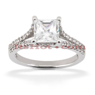 Platinum Diamond Engagement Ring 1.42ct Platinum Diamond Engagement Ring 1.42ct