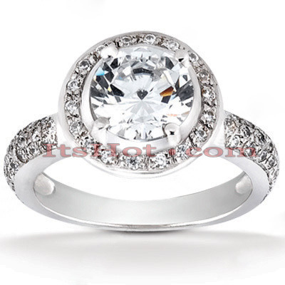 Platinum Diamond Engagement Ring 1.44ct Main Image