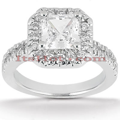 Platinum Diamond Engagement Ring 1.52ct 3.05mm Main Image