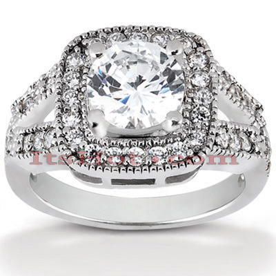 Platinum Diamond Engagement Ring 1.54ct Main Image