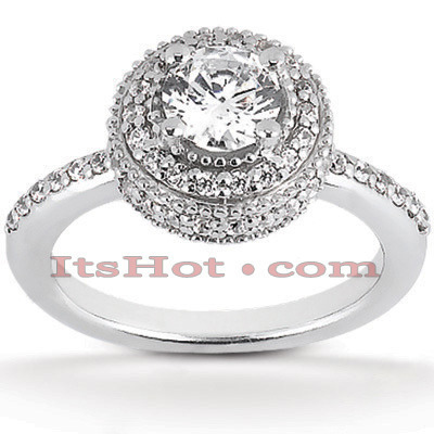 Platinum Diamond Engagement Ring 1.56ct 12.70mm Main Image