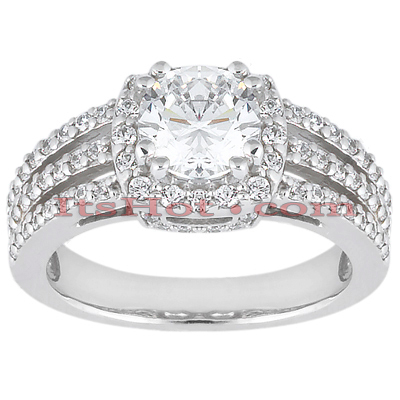 Platinum Diamond Engagement Ring 1.58ct Main Image