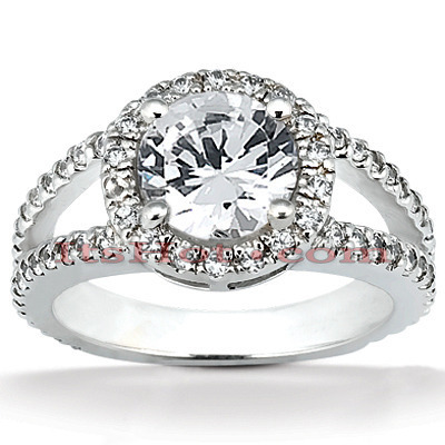 Platinum Diamond Engagement Ring 1.72ct Main Image