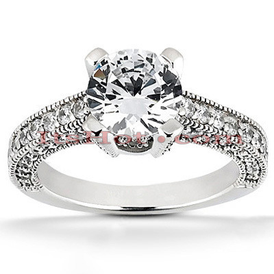 Platinum Diamond Engagement Ring 1.74ct Main Image