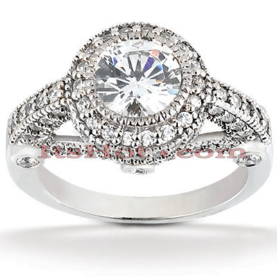 Platinum Diamond Engagement Ring 1.75ct Main Image