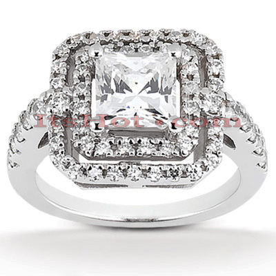 Platinum Diamond Engagement Ring 1.76ct Main Image