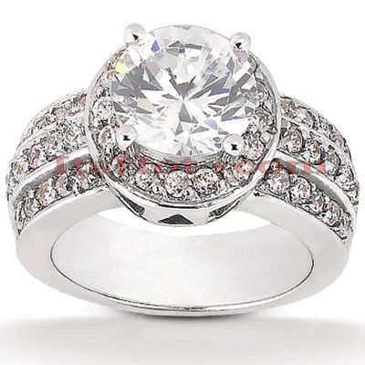 Platinum Diamond Engagement Ring 1.78ct 10.50mm Main Image