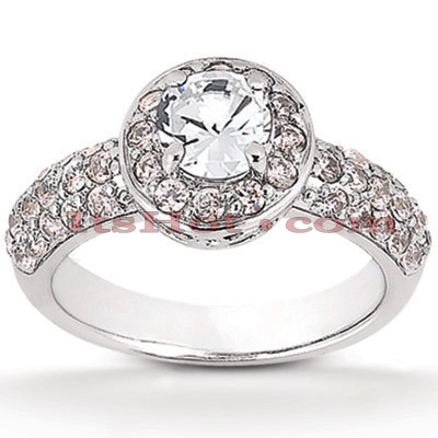 Platinum Diamond Engagement Ring 1.92ct Main Image