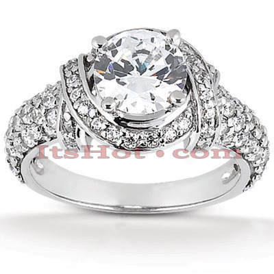 Platinum Diamond Engagement Ring 1.96ct Main Image